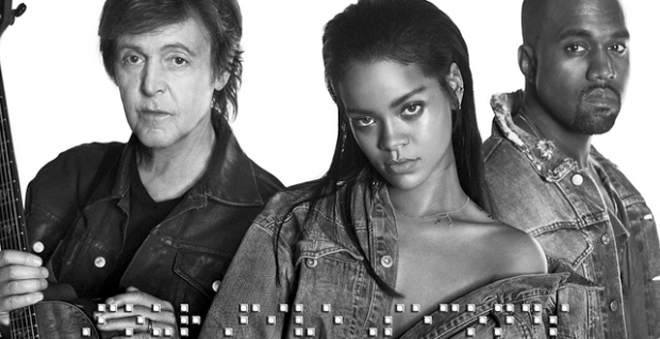 "Ouça ""FourFiveSeconds"", nova música da Rihanna em parceria com Paul McCartney e Kanye West"