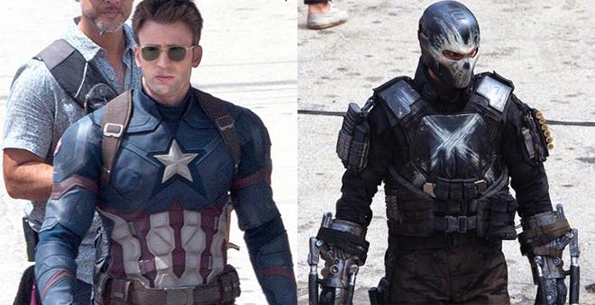 Capitão América 3: Imagens do set mostram novos uniformes dos heróis