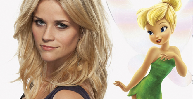 Reese Witherspoon irá estrelar live-action sobre a personagem Tinker Bell