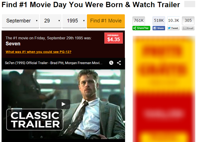 Movie Day You Were Born & Watch Trailer