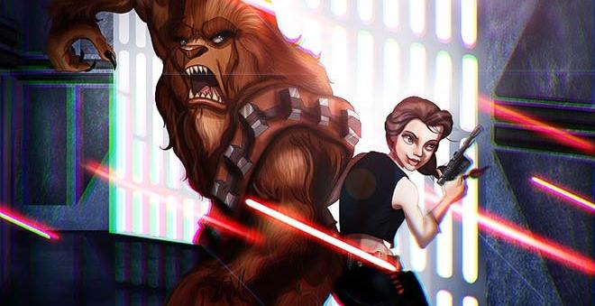 Ilustrador desenha princesas da Disney como personagens da saga Star Wars