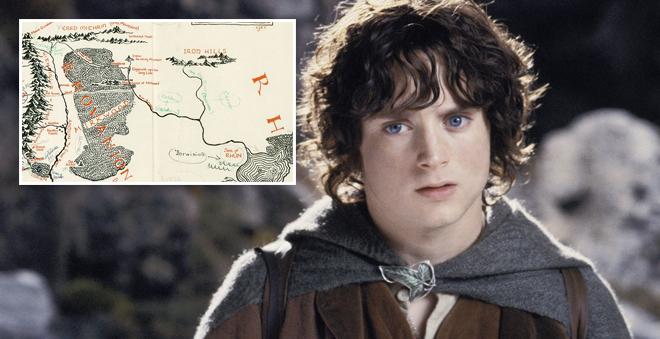 """Mapa raro da Terra-média, de """"O Senhor dos Anéis"""", é encontrado com anotações de Tolkien"""