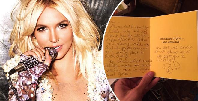 FOFANEY! Britney presenteia fãs com cartas e ingressos para seu show