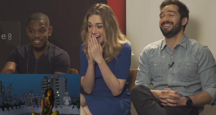 """Elenco de """"Sense8"""" conhece os memes brasileiros da série e o resultado é hilário; veja!"""