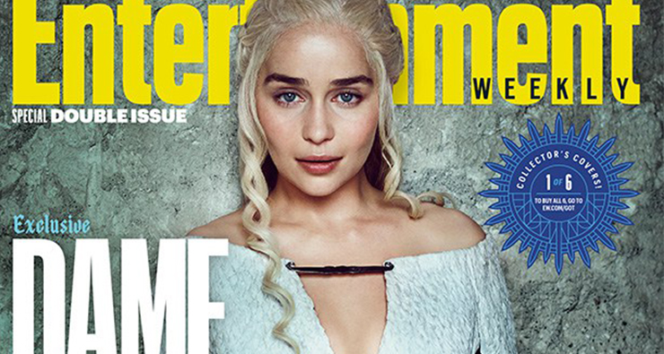 "Entertainment Weekly destaca as mulheres de ""Game of Thrones"" em novas capas"