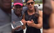 Zac Efron presenteia fã com um novo celular após aparelho quebrar numa tentativa de selfie!
