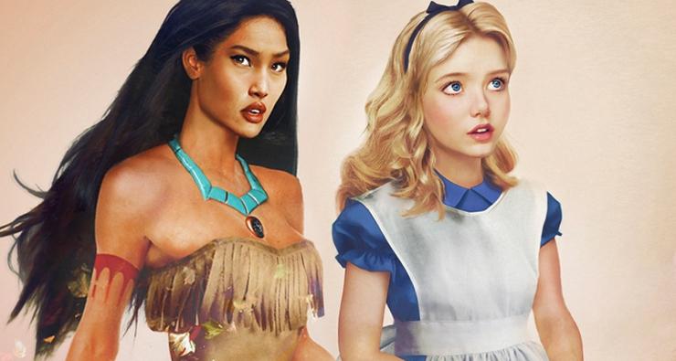 Incríveis ilustrações mostram como os personagens da Disney seriam na vida real