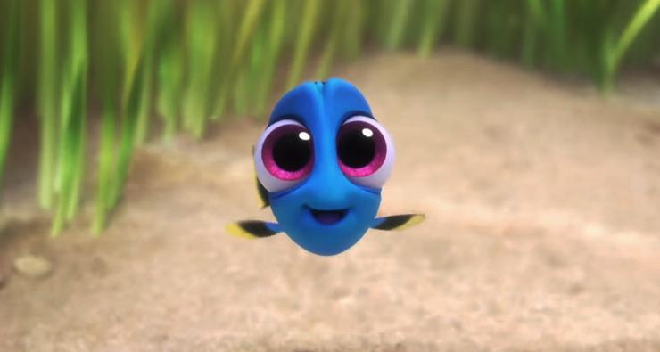 """Novo vídeo de """"Procurando Dory"""" mostra a peixinha ainda bebê brincando com seus pais"""
