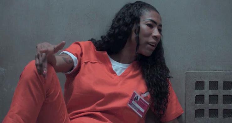 """Inês Brasil conversa com Piper na solitária em novo vídeo de """"Orange is the New Black"""""""