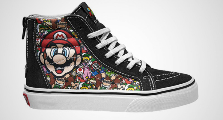 Vans cria coleção de roupa inspirada nos games da Nintendo