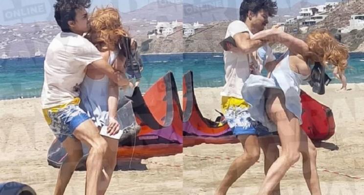 [VÍDEO] Lindsay Lohan é agredida por ex-noivo Egor Tarabasov na praia