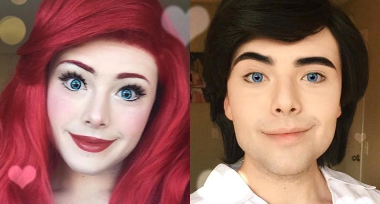Artista se transforma PERFEITAMENTE em princesas da Disney apenas com maquiagem!