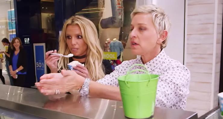 Vem ver o passeio divertidíssimo de Ellen DeGeneres e Britney Spears no shopping!