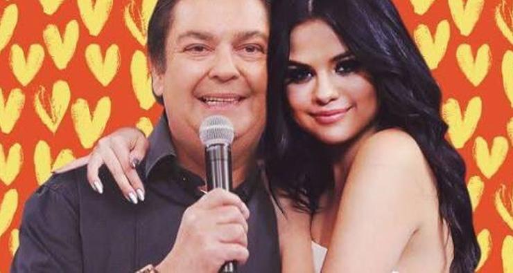 Faustão manda beijo para Selena Gomez ao vivo em seu programa e vira piada