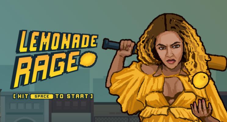 """Vem ser a Beyoncé de """"Hold Up"""" e quebrar tudo no joguinho online Lemonade Rage!"""
