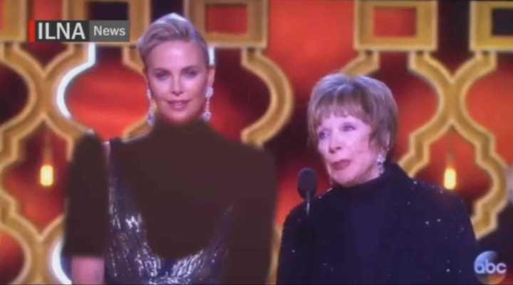[VÍDEO] Decote de Charlize Theron no Oscar 2017 é censurado em vídeo de agência iraniana