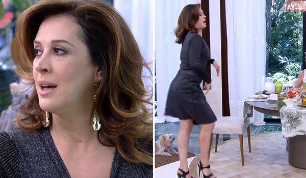 """Vivemos para ver Claudia Raia dando uma """"sarrada no ar"""" no programa da Ana Maria! 😂"""