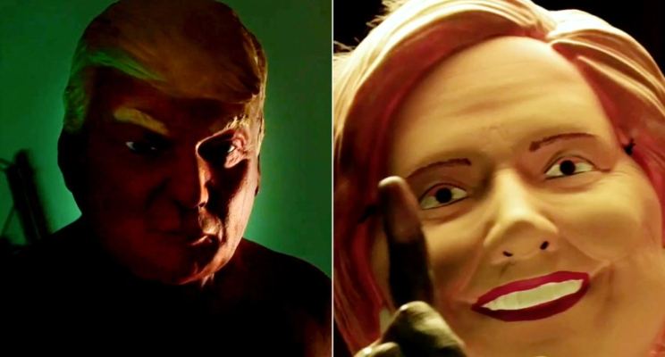 """Donald Trump, Hillary Clinton e várias bizarrices na abertura de """"American Horror Story: Cult""""!"""