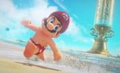 """Mario aparece só de bermudinha em cena do novo jogo da Nintendo, o """"Super Mario Odyssey"""""""
