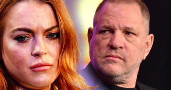 """Really? Lindsay Lohan defende Harvey Weinstein de acusações de assédio: """"Estou me sentindo mal por ele"""""""