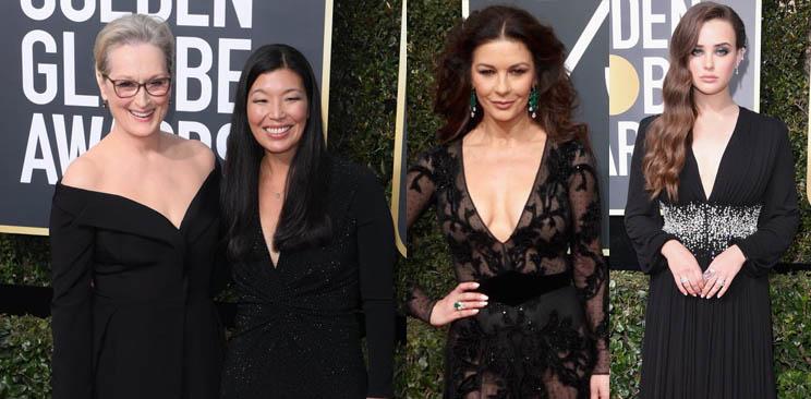 Atrizes usam vestidos pretos no Globo de Ouro para protestar contra assédio sexual em Hollywood
