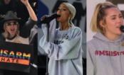 Lady Gaga, Ariana Grande, Miley Cyrus e vários artistas participam da marcha contra as armas nos EUA